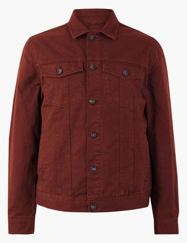 fe189ad3b28 Pure Cotton Denim Jacket. M S Collection