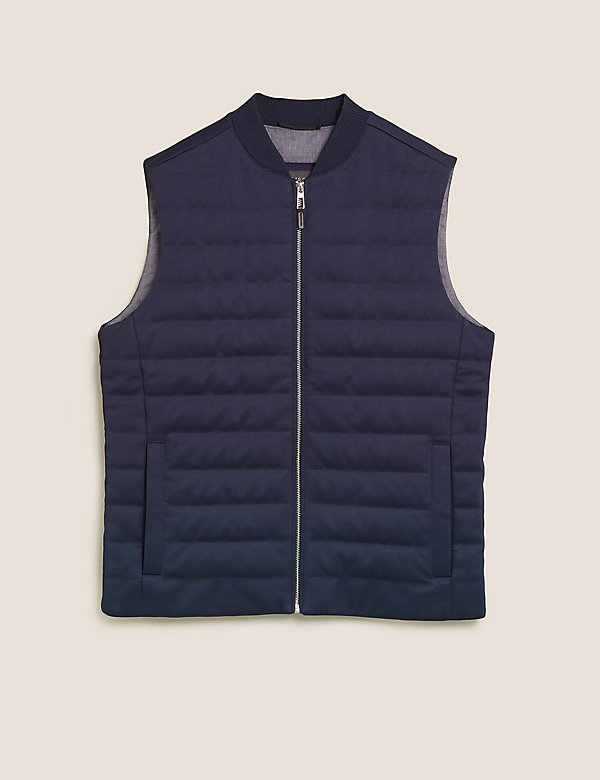 M/&s coton gilet Couette Foulard Carreaux Neuf Rembourré Dogtooth Marks and Spencer
