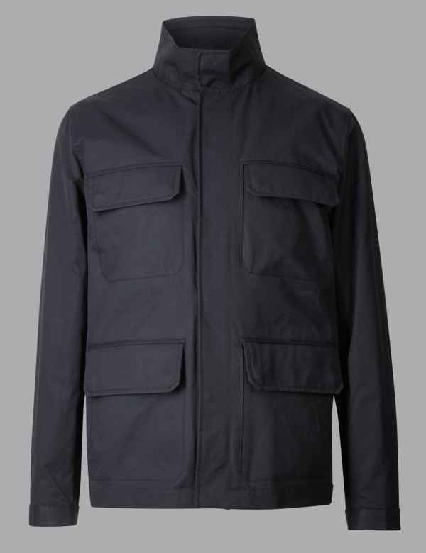 9baa15796bfe Cotton Rich Four Pocket Jacket