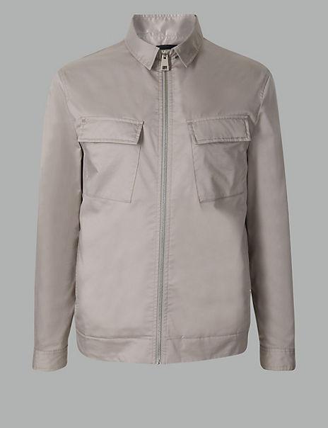 Cotton Rich Shirt Harrington Jacket