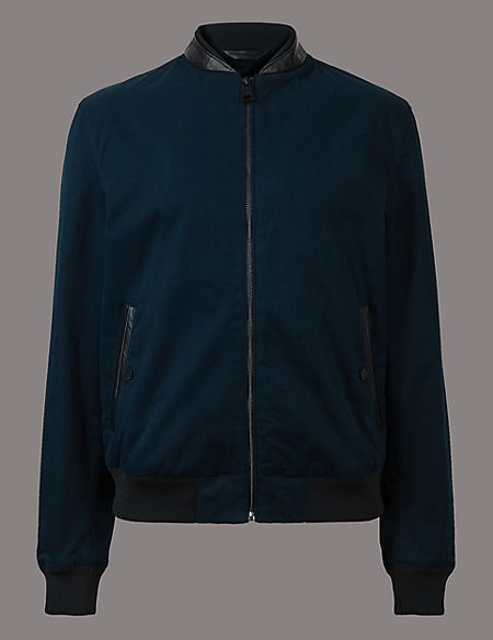 Cotton Rich Bomber Jacket with Stormwear™