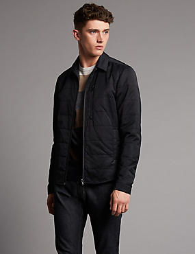 M/&S COLLECTION Men/'s  Funnel Neck Coat with Wool NEW!!