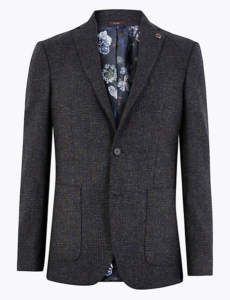 Pure Wool Prince of Wales Checked Jacket