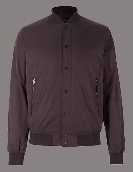 Cotton Blend Bomber Jacket with Stormwear™