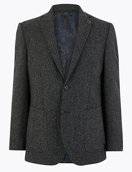 Pure Wool Textured Jacket