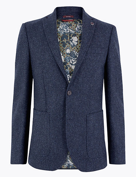 Tailored Fit Wool Jacket