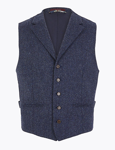 Tailored Fit Wool Waistcoat