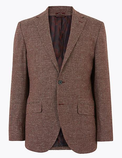 Regular Italian Linen Blend Jacket