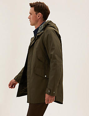 Hooded Technical Mac With Stormwear™