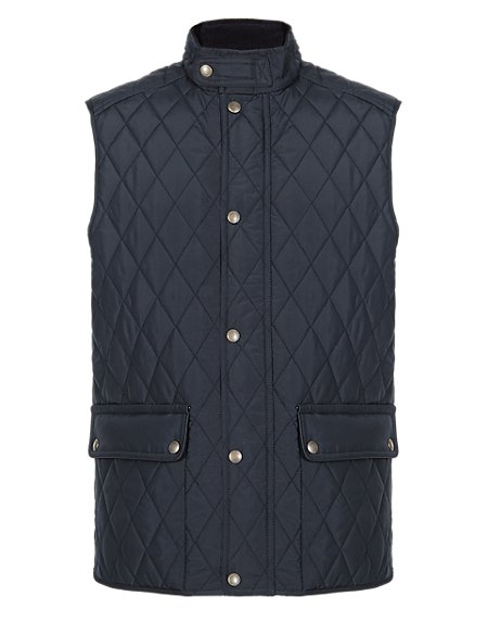 Quilted & Panelled Gilet with Stormwear™