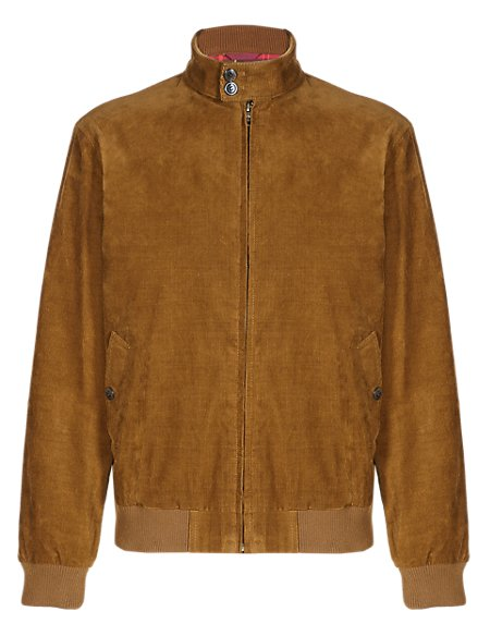 Pure Cotton Vintage Inspired Corduroy Bomber Jacket
