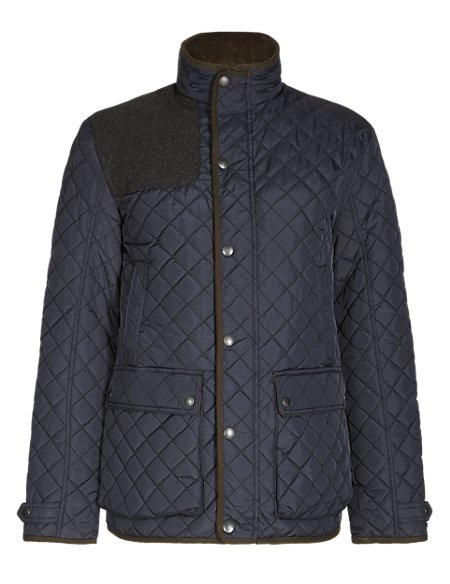 Slim Fit Water Resistant Quilted Jacket with Stormwear™
