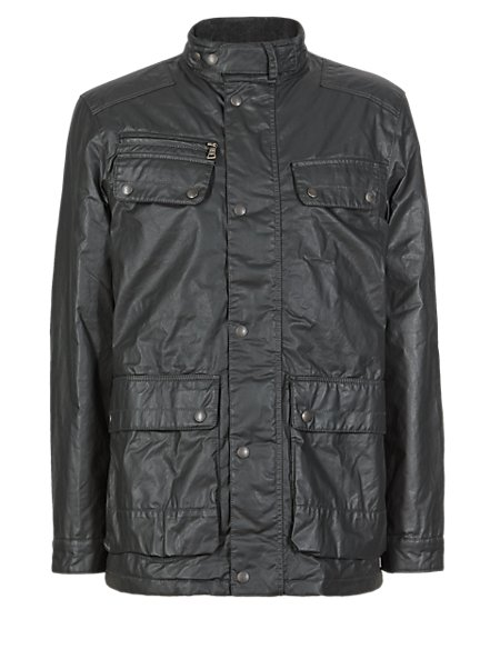 Pure Cotton Military Jacket with Stormwear™