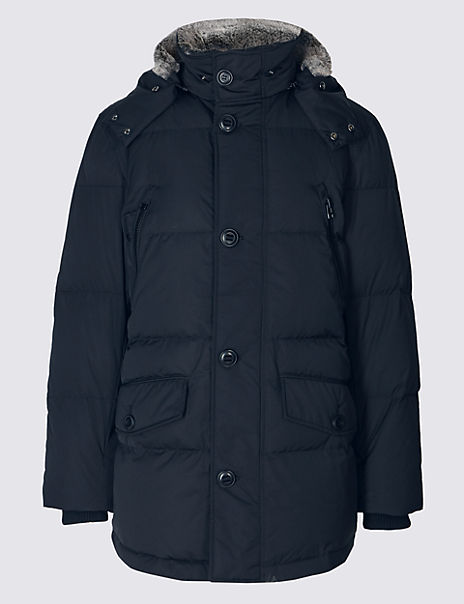 0996f4635db Down & Feather Parka with Stormwear™ | Blue Harbour | M&S