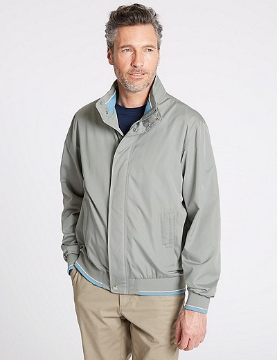 Marks and Spencer Lightweight Bomber Jacket with Stormwear navy
