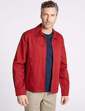 Pure Cotton Harrington Jacket with Stormwear™