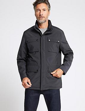 4 Pocket Jacket with Stormwear™, NAVY, catlanding