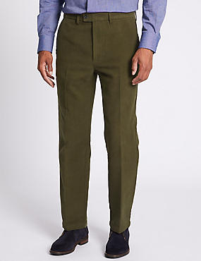Regular Fit Italian Moleskin Chinos