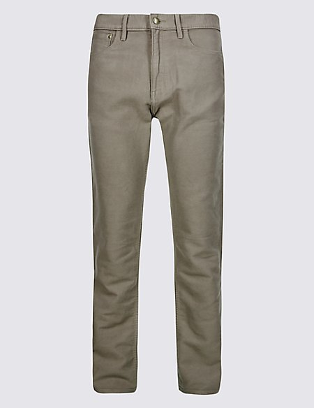 Pure Cotton Regular Fit Moleskin Trousers