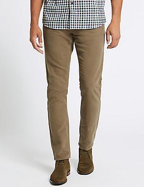 Italské moleskinové kalhoty úzkého střihu 6c5cc150e8
