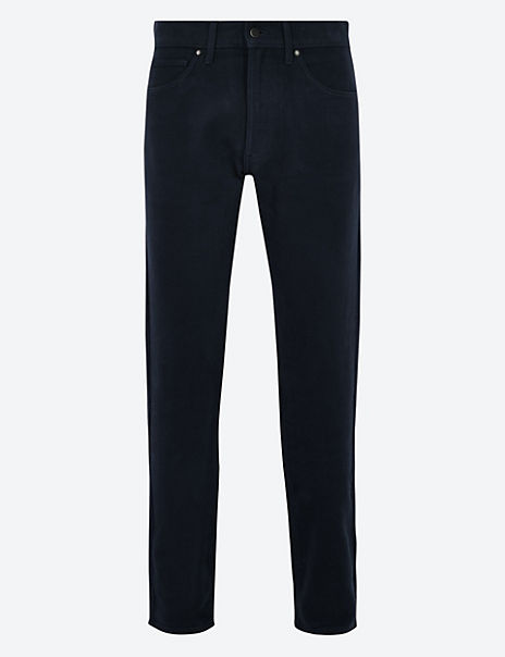 Slim Fit Italian Moleskin Trousers