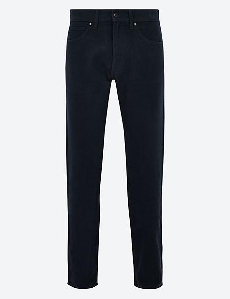 Slim Fit Italian Moleskin Trousers