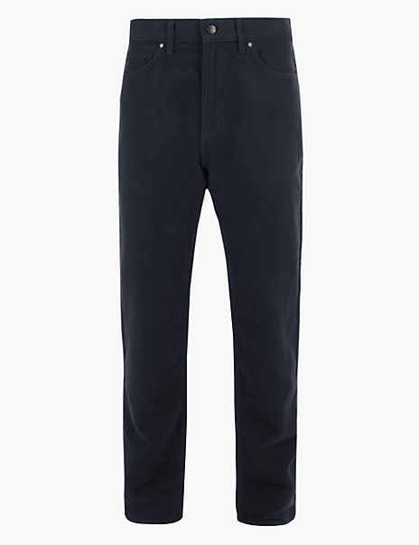 Big & Tall Cotton Italian Moleskin Trousers