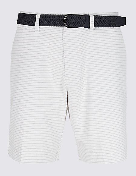 Pure Cotton Striped Shorts