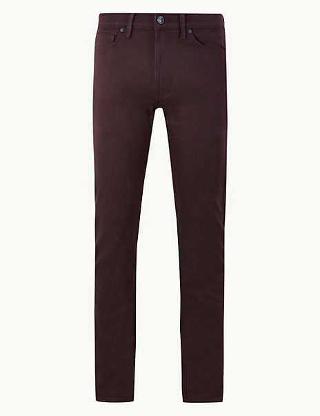 Skinny Fit Italian Cotton Travel Jeans