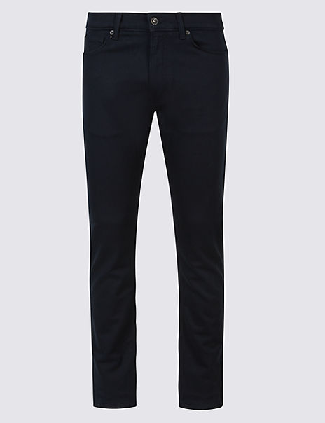 Italian Cotton 5 Pocket Stretch Travel Jeans