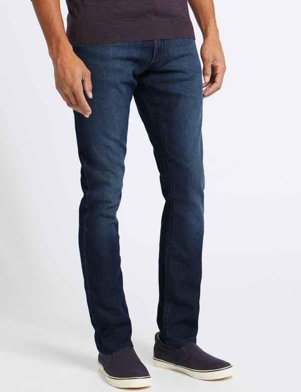 Big & Tall Slim Fit Stretch Travel Jeans