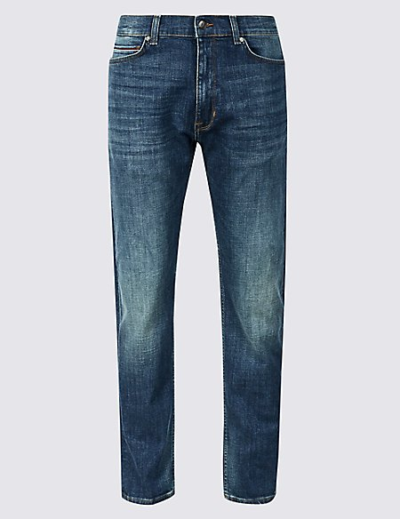 Tapered Fit Jeans with Stretch