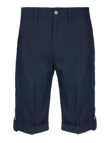 Pure Linen Adjustable Hem Shorts