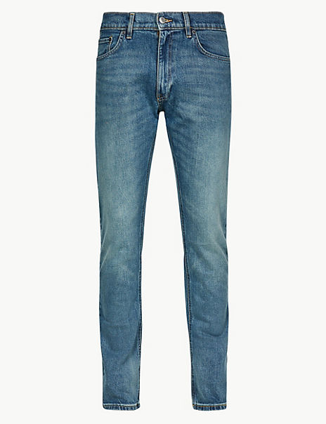 Vintage Wash Slim Fit Jeans