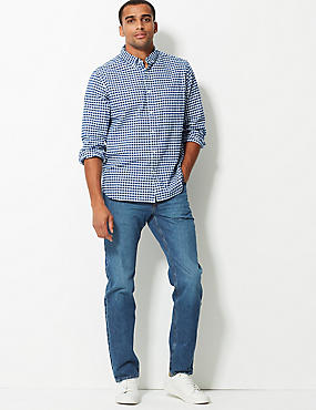 Tapered Fit Vertical Stretch Jeans