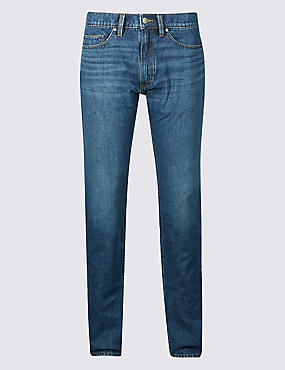 Tapered Fit Cotton Rich Jeans