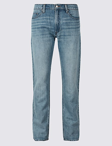 Cotton Linen Straight Fit Authentic Jeans