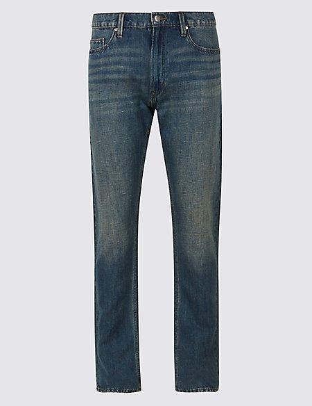 Cotton Linen Straight Fit Authentic Jeans