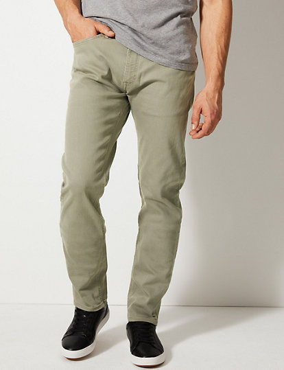 m&s mens tapered travel jeans