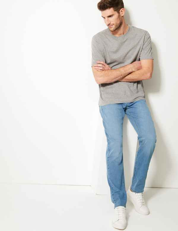 8bb74a75 Tapered Fit Stretch Jeans. New and Improved Fit. M&S Collection