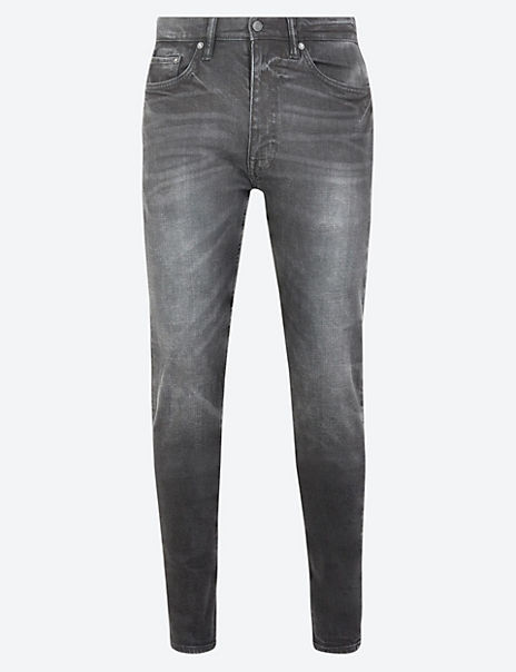 Skinny Vintage Wash Stretch Jeans
