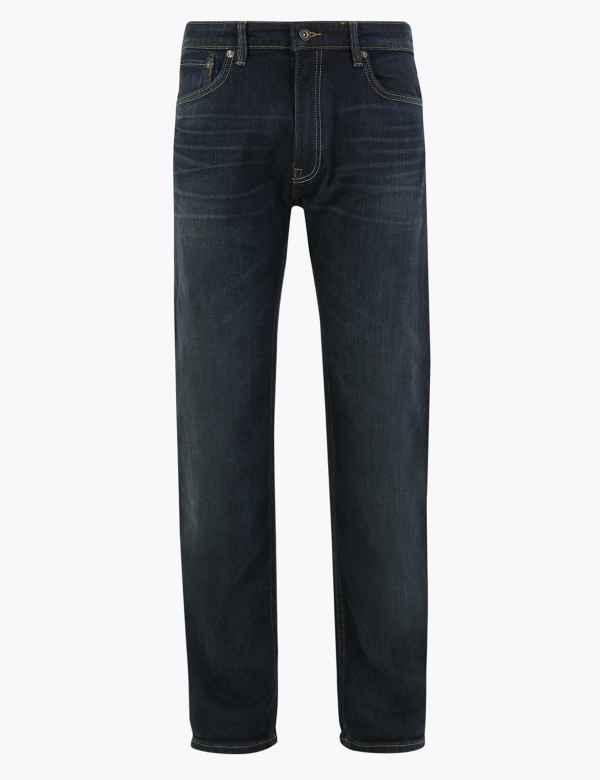 M/&S Autograph Uomo Slim Fit Stretch jeans Nuovo!!!
