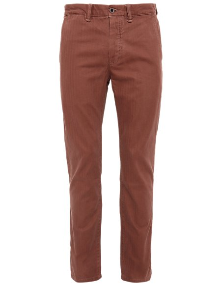 Pure Cotton Slim Fit Chinos