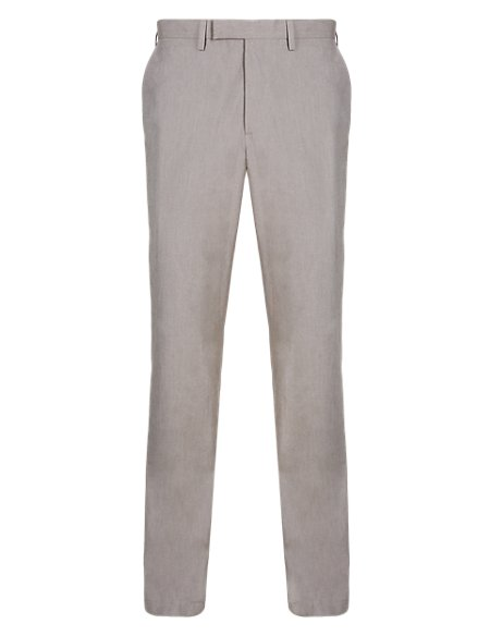 Luxury Pure Cotton Slim Fit Chambray Chinos