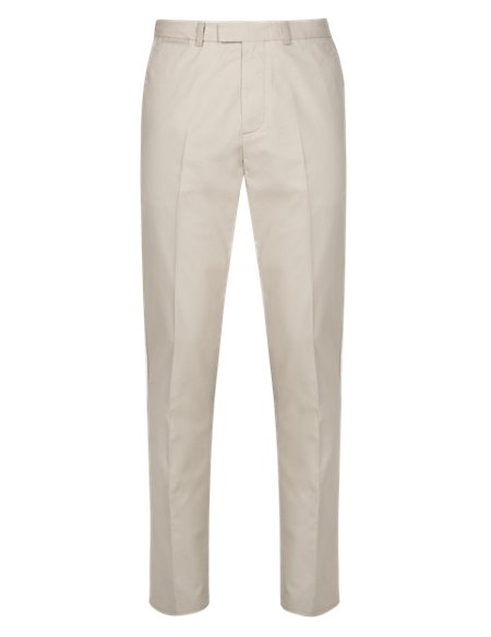 Pure Cotton Soft Touch Tailored Fit Chinos