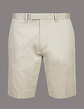 Cotton Chino Shorts with Stretch
