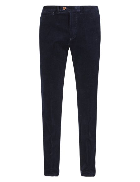 Cotton Rich Tapered Fit Premium Corduroy Trousers