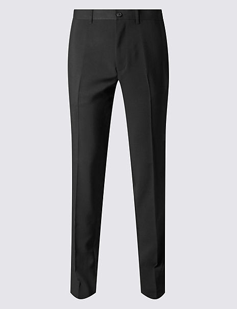 Slim Fit Flat Front Trousers