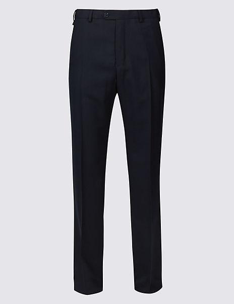 Big & Tall Wool Blend Flat Front Trousers