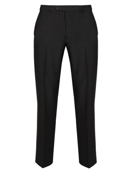 Ultimate Performance Supercrease™ Slim Fit Flat Front Trousers with Wool